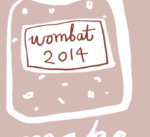 Wombat Jam - light Sticker