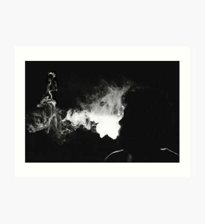 VISIONS IN SMOKE PICTURE AND OR CARD Art Print