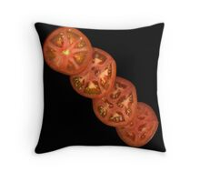 Tomato at an angle Throw Pillow