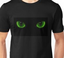Two green cat eyes Unisex T-Shirt