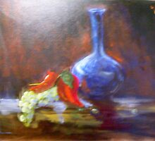 Blue Vase by lorna