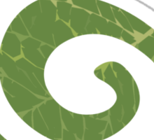 Spiral Leaf Sticker