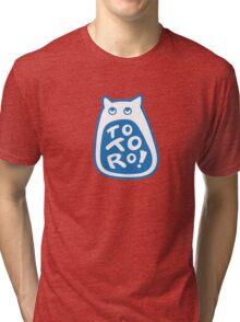 Yawning Totoro Tri-blend T-Shirt