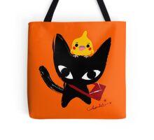 Yeux Du Chat Noir Tote Bag