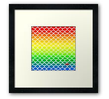 Fish Scales Rainbow Framed Print