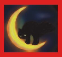 Black cat and moon Baby Tee