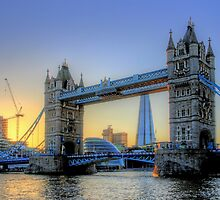 The Sun Goes Down - Tower Bridge - HDR by Colin  Williams Photography