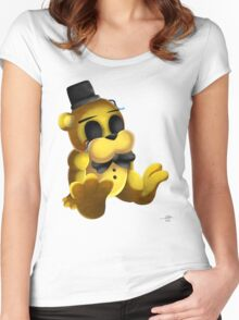 Chibi Golden Freddy 2 Women's Fitted Scoop T-Shirt