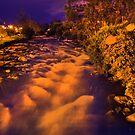 Rio Tomebamba At Night by Al Bourassa