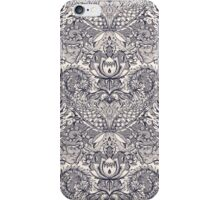 Natural Rhythm 2 - a hand drawn pattern in charcoal & cream iPhone Case/Skin