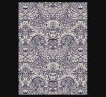 Natural Rhythm 2 - a hand drawn pattern in charcoal & cream Baby Tee