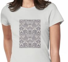 Natural Rhythm 2 - a hand drawn pattern in charcoal & cream Womens Fitted T-Shirt