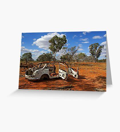 Australian outback near Cobar Greeting Card