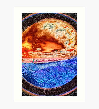 BLOODRED SKY Art Print