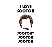 I Love Scotch Photographic Print