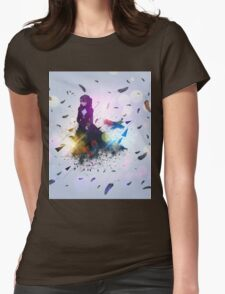 Crow and girl 3 Womens Fitted T-Shirt