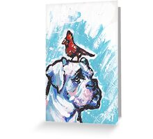 Boxer Dog Bright colorful pop dog art Greeting Card
