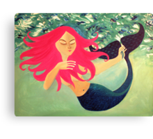 my lil mermaid Canvas Print