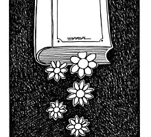 Flowers and Book by Ercan BAYSAL