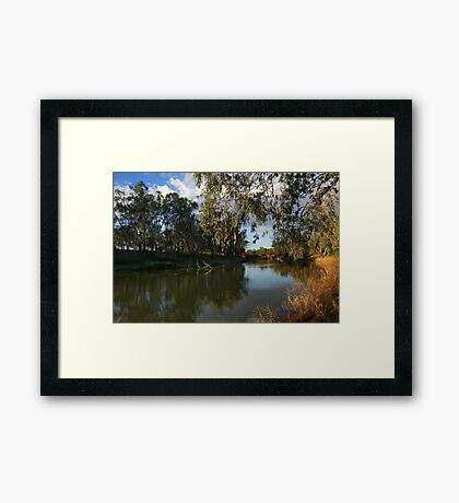 Darling River at Bourke Framed Print