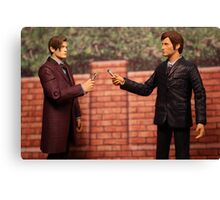 The Eleventh Doctor Meets The Tenth Doctor Canvas Print