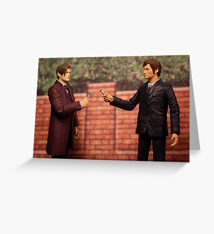 The Eleventh Doctor Meets The Tenth Doctor Greeting Card