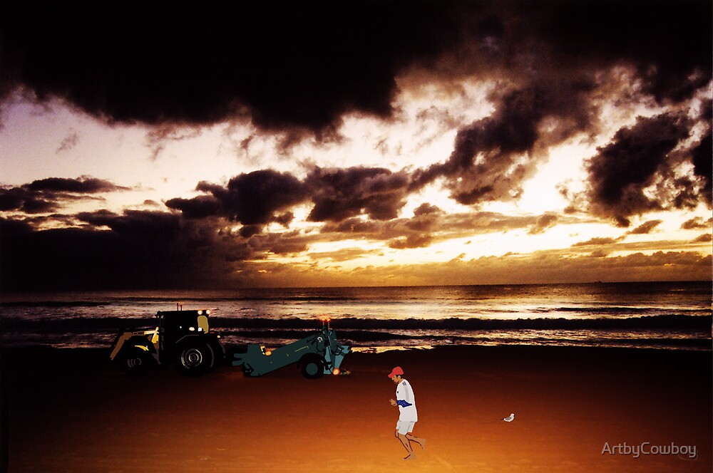 Dawn at Manly Beach by ArtbyCowboy