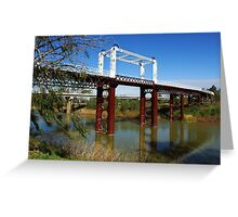 North Bourke Bridge Greeting Card
