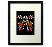 Aztec double double dragon Framed Print