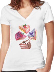 Let Them Eat Cake Women's Fitted V-Neck T-Shirt