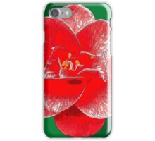 Red Camellia iPhone Case/Skin