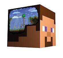 Minecraft Steve Terraria by HyperDerpz