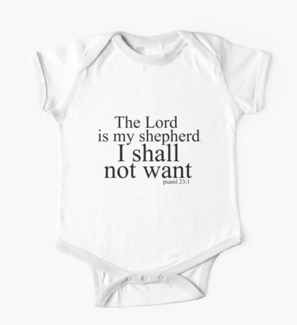 The Lord is my shepherd One Piece - Short Sleeve