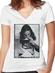 Cocaine Funny  Women's Fitted V-Neck T-Shirt