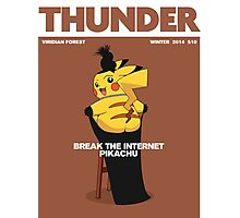 Pikachu: Break The Internet! Photographic Print
