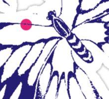 Butterfly Pink Dots Sticker