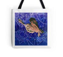 Barn Owl blue Tote Bag