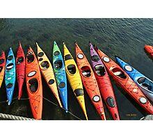 Kayaks! Photographic Print