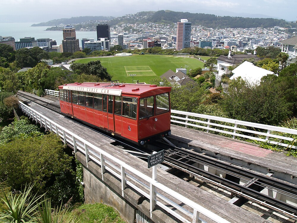 Wellington Cable Car by Adrian Lord