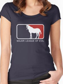 Major League of Evil Women's Fitted Scoop T-Shirt
