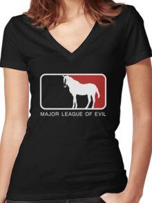 Major League of Evil Women's Fitted V-Neck T-Shirt