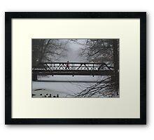 Wintry walk Framed Print