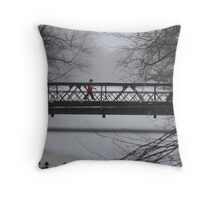 Wintry walk Throw Pillow