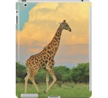 Giraffe - African Wildlife - The Rain is Coming iPad Case/Skin