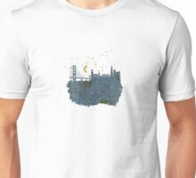 San Francisco skyline old map Unisex T-Shirt