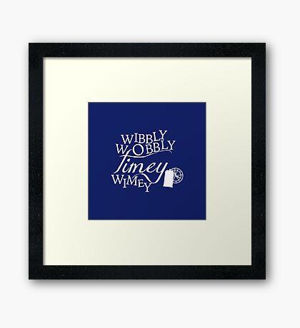 Wibbly Wobbly Timey Wimey - Version Blue Framed Print