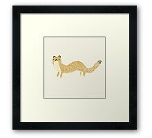 Fluffy Weasel Framed Print