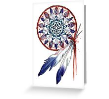Dreamcatcher Mandala Greeting Card