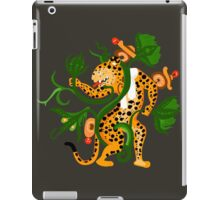 Mayan jaguar playing with a waterlily iPad Case/Skin
