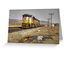 Reflections of the Union Pacific  Greeting Card